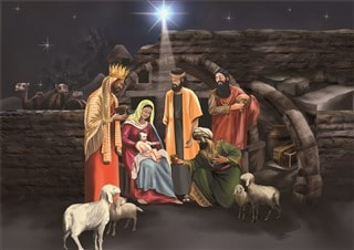 The wise men bring their gifts